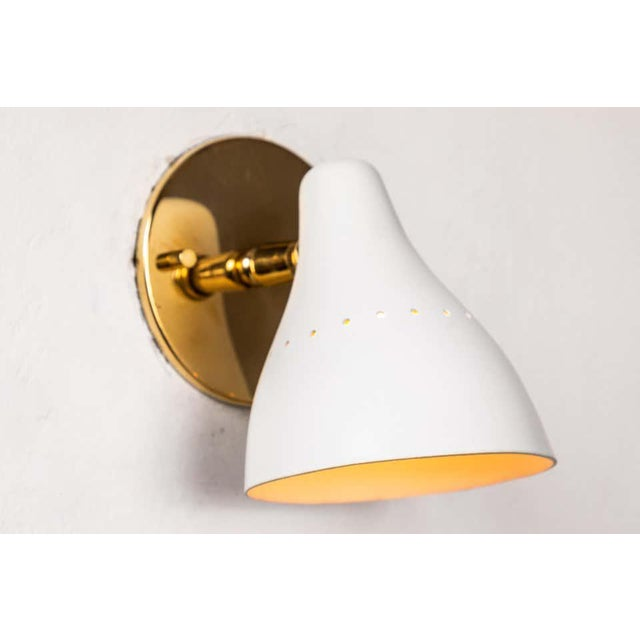 1950s 1950s Gino Sarfatti White Articulating Sconce for Arteluce For Sale - Image 5 of 13