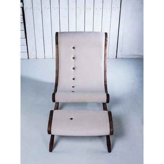 Danish Lounge Chair & Ottoman - Image 5 of 8