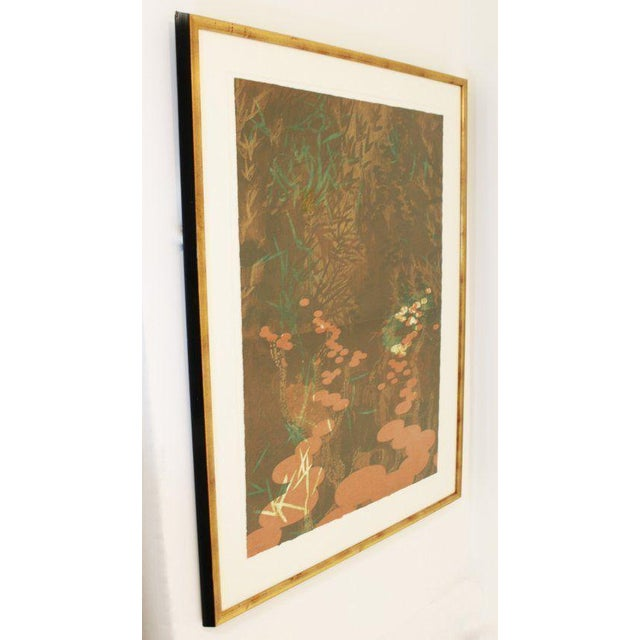 Mid-Century Modern Asian Diptych by Martin Green 36/40 Signed Lithograph For Sale - Image 4 of 11