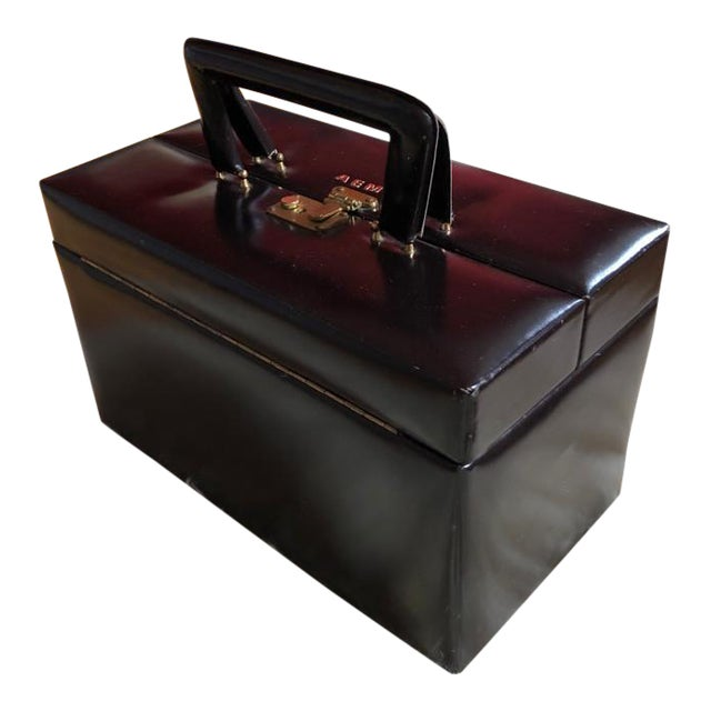 Mid 20th Century Vintage Travelling Leather Vanity Case, 1960-1970 by Asprey For Sale