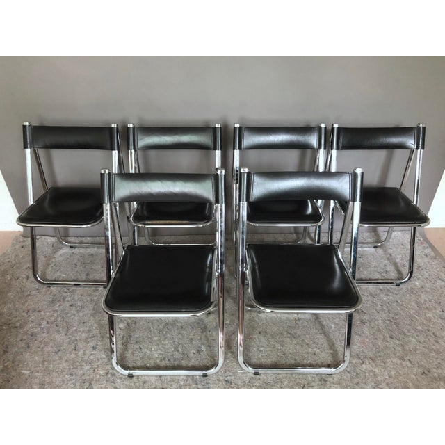 """Arrben """"Tamara"""" Folding Chairs - Set of 6 For Sale - Image 11 of 11"""