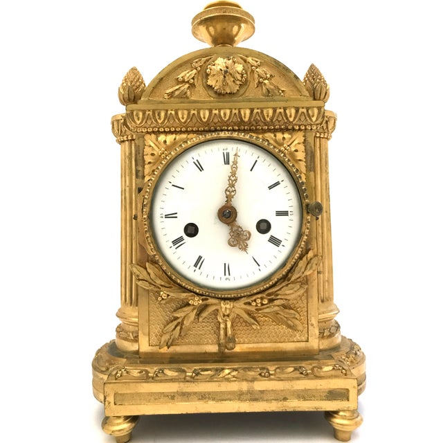 Absolutely phenomenal piece of time-keeping history. This working gilded French Mantel clock was made in 1776. Yes, 1776....