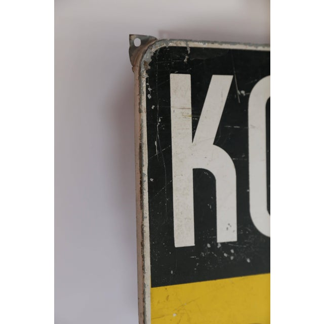 Dutch Konings Gist Advertising Sign, circa 1950 For Sale - Image 4 of 6