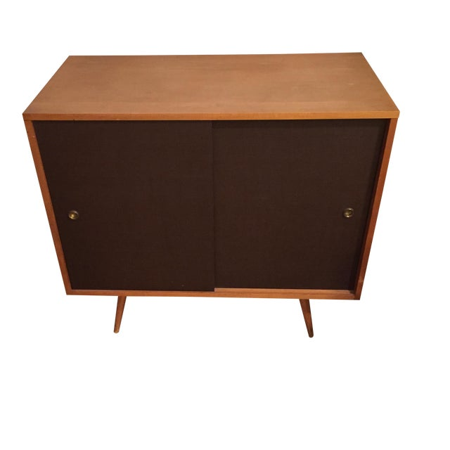Paul McCobb Planner Group Grass Cloth Cabinet - Image 1 of 5