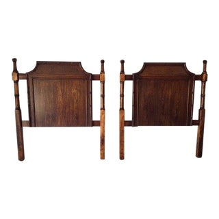 Vintage Hollywood Recency Style Faux Bamboo Twin Headboards S/2 For Sale
