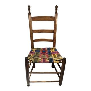 Vintage Belt Woven Wooden Chair