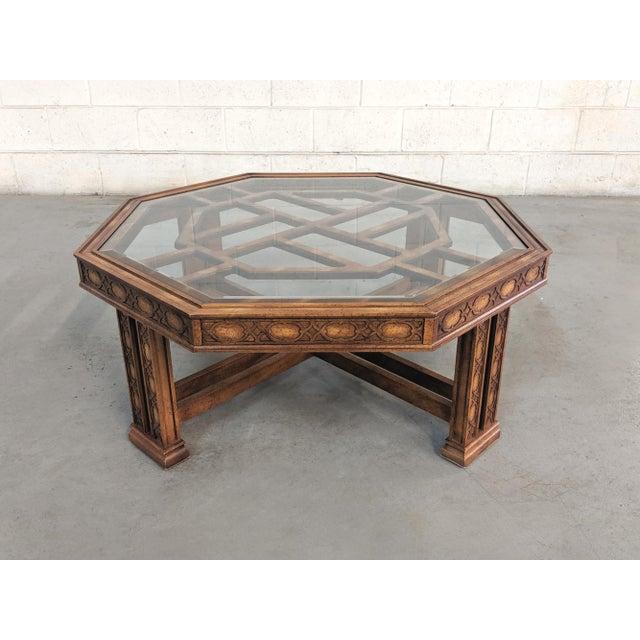 Fretwork Coffee Table.1980s Chippendale Gordon S Fine Furniture Fretwork Coffee Table