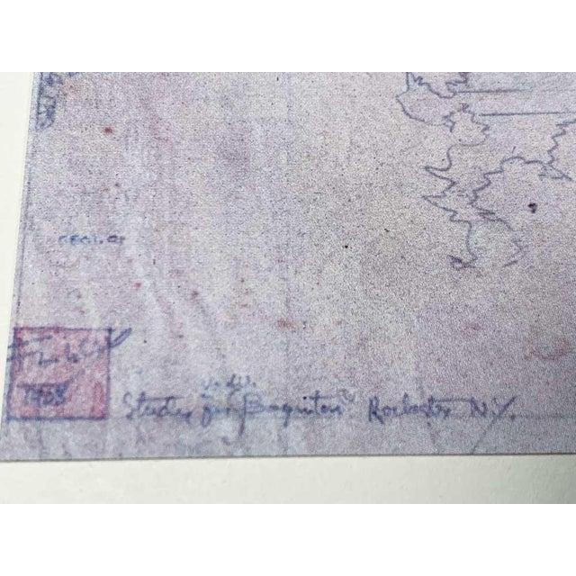 Limited Edition Frank Lloyd Wright Lithograph. Project: E.E. Boynton House, Rochester, New York. Size : 52.4 x 38.1cm....