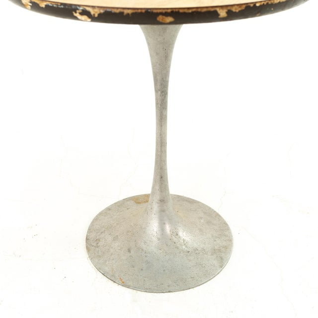 Eero Saarinen Style Mid Century Tulip Base Side End Table 18 wide x 18 deep x 20 high We will restore this piece to white...