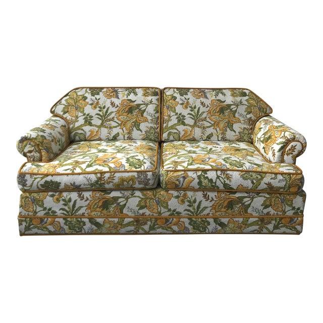 Vintage Mid-Century Modern Upholstered Floral Sofa - Image 1 of 8