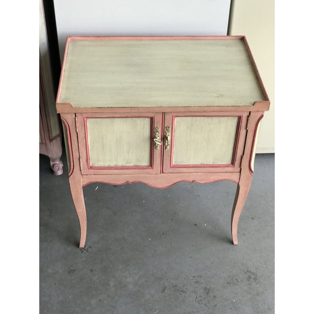 John Widdicomb Painted Pink Night Stand Side Table For Sale In Chicago - Image 6 of 6