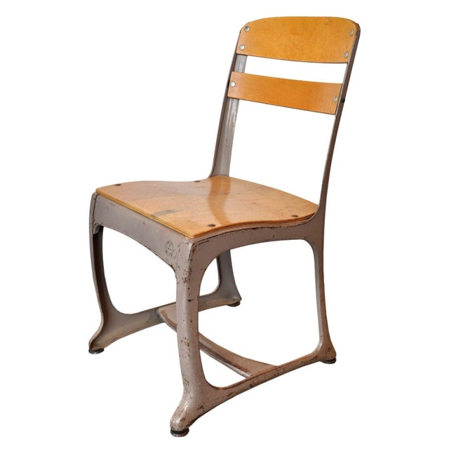 Vintage Schoolroom Chair For Sale