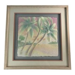 1980s Marino Hand-Embossed Signed Art For Sale