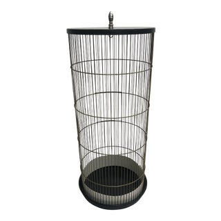 Vintage Mid Century Modern Tall Wire Birdcage For Sale