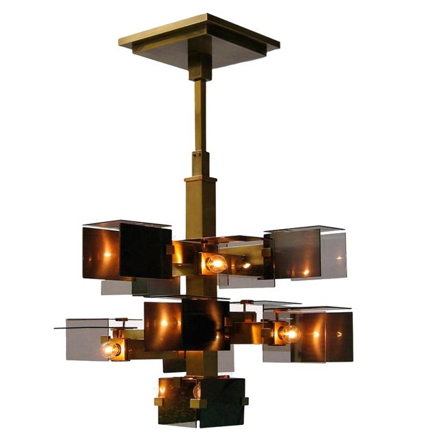 """The """"David Collins"""" chandelier was designed by David Collins for J. & L. Lobmeyr for a villa on the Côte d'Azur. The..."""