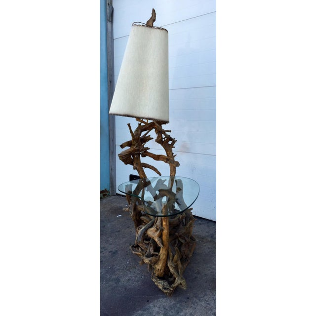 Driftwood Lamp & Built in Table - Image 5 of 6