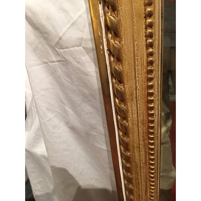 Gold Louis XVI Style Mirror For Sale - Image 8 of 9