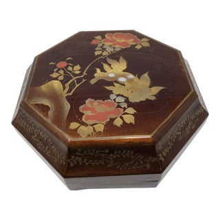 1960s Vintage Chinese Octagonal Lacquer Box For Sale