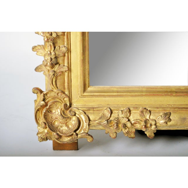 Mid 19th Century Louis XV Style Gold Mirror For Sale In Chicago - Image 6 of 7
