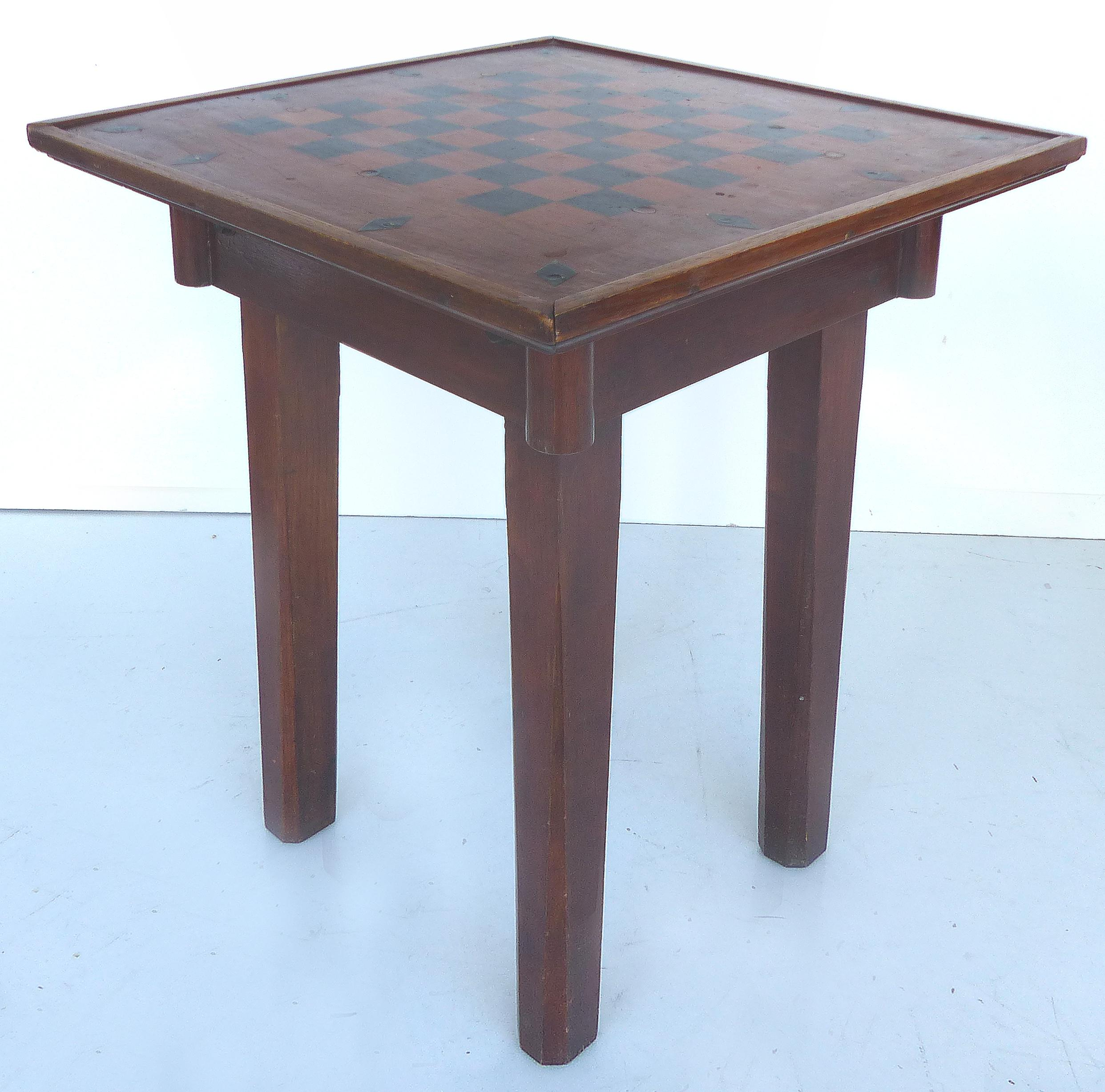 Rustic Checkerboard Table   Image 8 Of 11