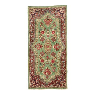 Antique Persian Kerman Accent Rug, Small Persian Rug - 02'01 X 04'04 For Sale