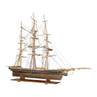 Large Antique Ship Model For Sale