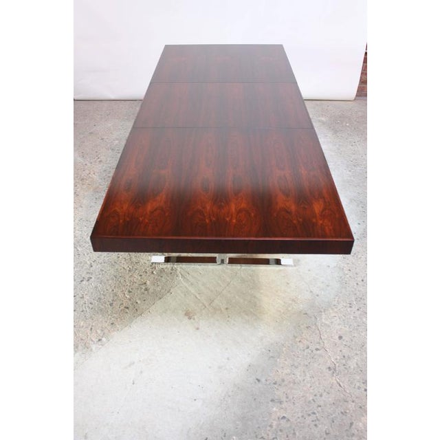 Poul Nørreklit Low Rosewood Extension Table for Georg Petersens For Sale - Image 9 of 10