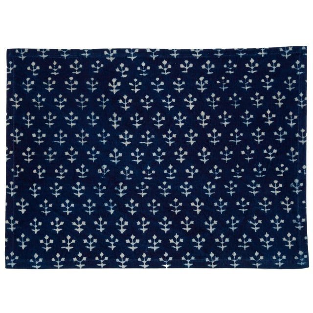 Contemporary Jamini Placemats Indigo - A Pair For Sale - Image 3 of 4