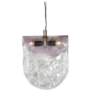 Carlo Nason for Mazzega 1970s Murano Glass Pendant Light For Sale
