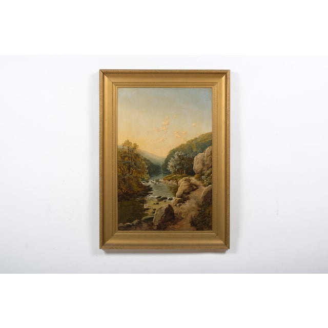 Landscape Featuring a Rocky River Scene by Edmund John Niemann, 1856 For Sale In Nashville - Image 6 of 6