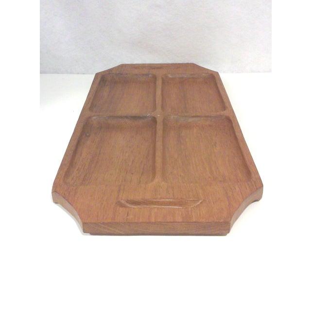 Danish Modern Teak Wood Serving Tray - Image 4 of 4