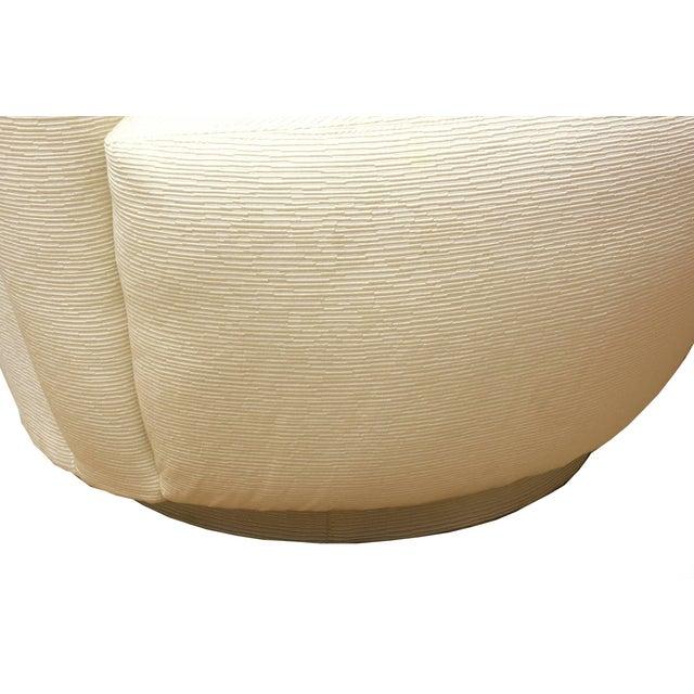 "Fabric 1970s Vintage Vladimir Kagan"" Nautilus"" Swivel Lounge Chairs- A Pair For Sale - Image 7 of 11"