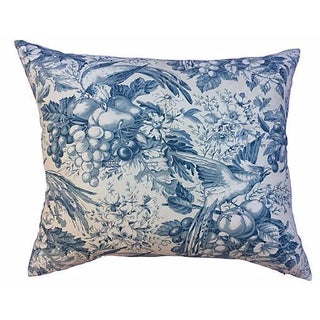 French Floral Toile Pillow For Sale