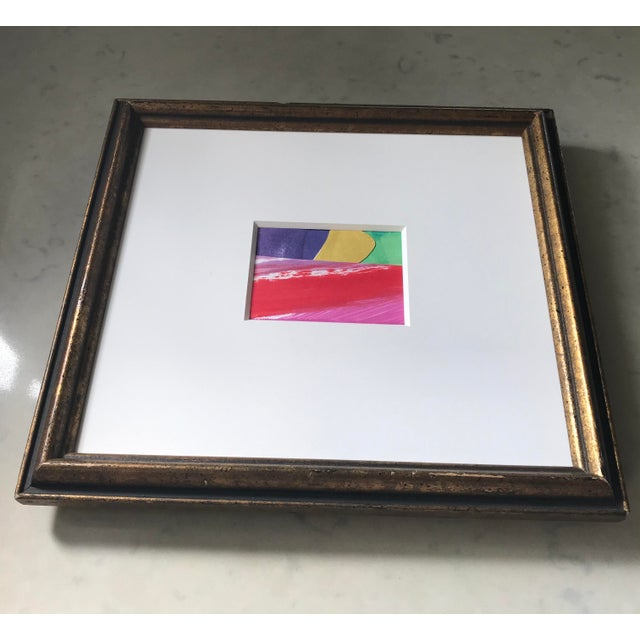 2020s Original Abstract Collage in Vintage Frame For Sale - Image 5 of 9