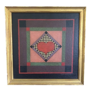 1981 Original Painting by John D. Simpkins, Quilt Series For Sale