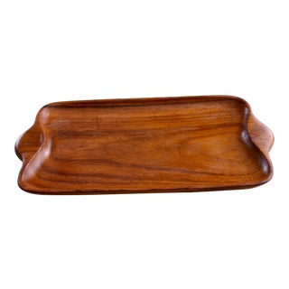 Mid-Century Modern Wood Tray For Sale