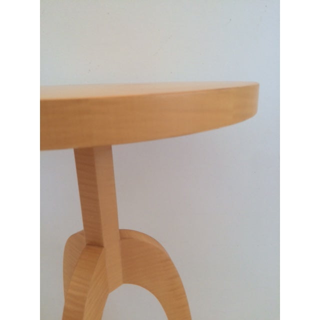 White Todd Hase Sycamore Marquetry Gueridon Table For Sale - Image 8 of 10