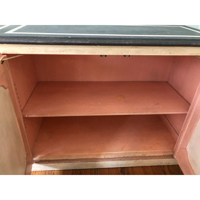 Paint 1965 Hollywood Regency Baker Furniture Painted Credenza For Sale - Image 7 of 10