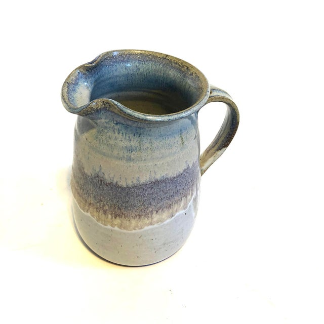 Arts & Crafts Mid-Century Studio Pottery Stoneware Pitcher For Sale - Image 3 of 5