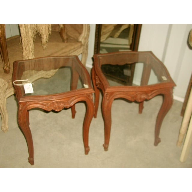 French 19th C. Walnut & Glass Tables - Image 6 of 7