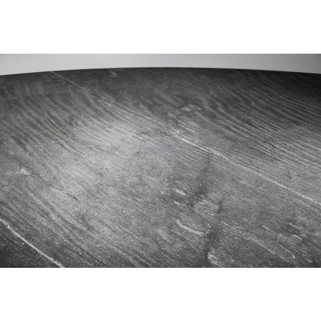 Slate Gray 1970s Mario Bellini Style Italian Slate Dining Table For Sale - Image 8 of 13