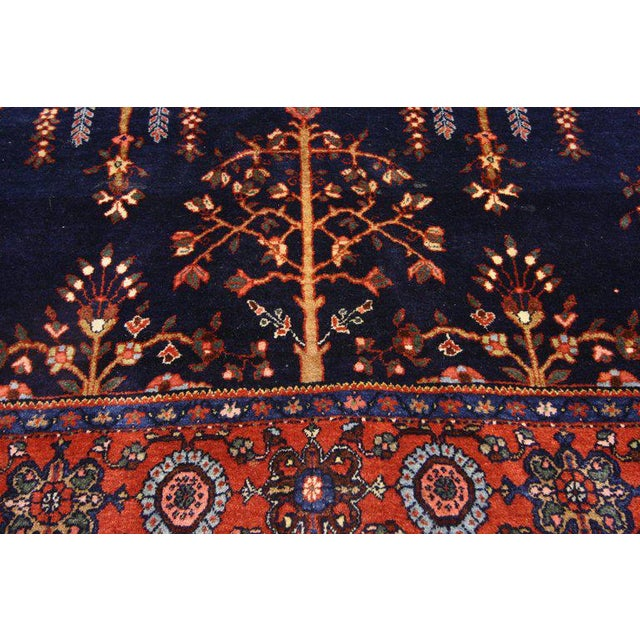 Early 20th Century Antique Persian Sarouk Rug - 4′3″ × 6′5″ For Sale In Dallas - Image 6 of 8