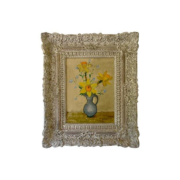 French Modernist Still Life Oil Painting - Image 1 of 4