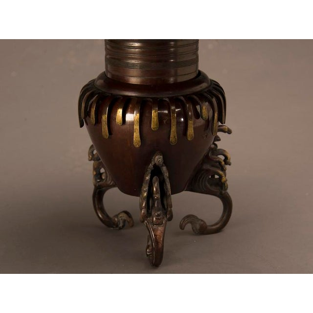 Circular Bronze Ikebana Container, Japan c. 1860 in two parts For Sale In Houston - Image 6 of 6