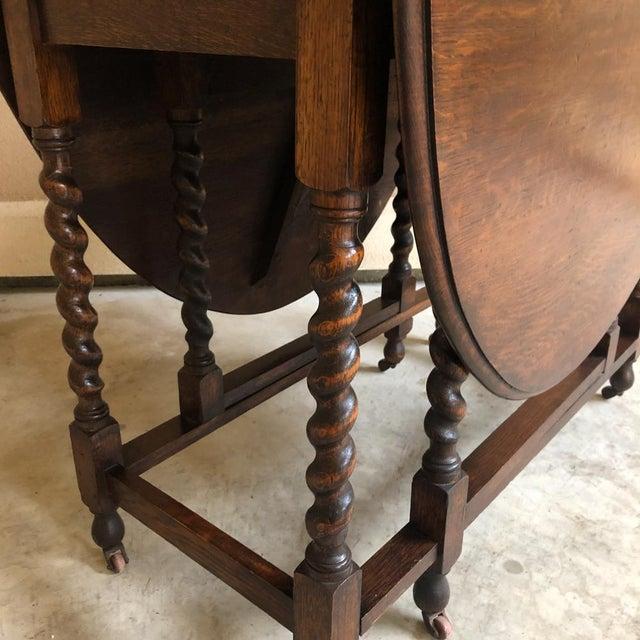 Antique Barley Twist Gateleg Drop Leaf Table For Sale - Image 10 of 13