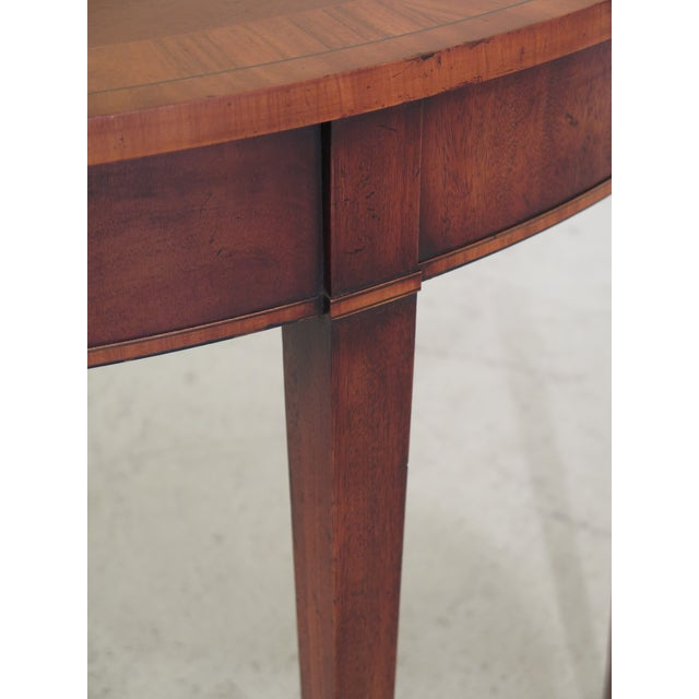 Swell English Inlaid Mahogany 1 2 Round Federal Console Table Gmtry Best Dining Table And Chair Ideas Images Gmtryco