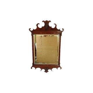 Late 18th Century Vintage English Georgian Mahogany Mirror For Sale