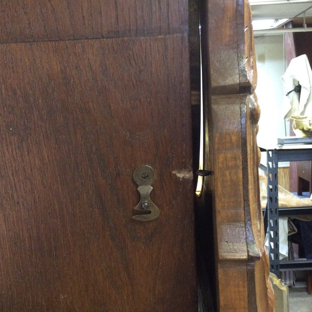 Metal Antique Early 20th Century A. Kieninger German Grandfather Clock For Sale - Image 7 of 13