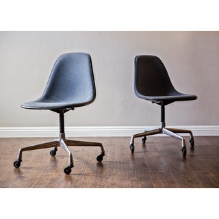 Eames Herman Miller Swivel Base Shell Chairs - A Pair Preview