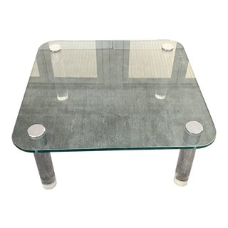 Pace Collection Lucite and Chrome Coffee Table For Sale